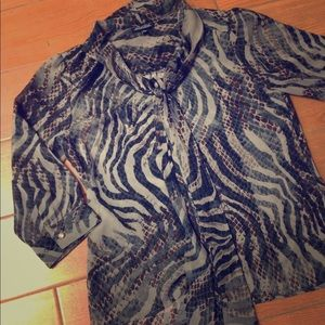 Zebra Blouse with Camisole size Small